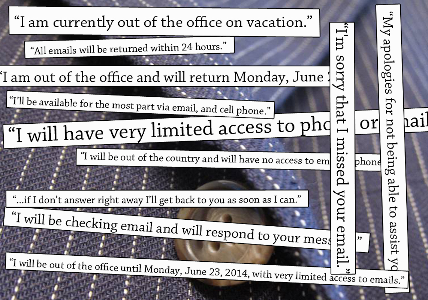 out of office email messages the riveter magazine