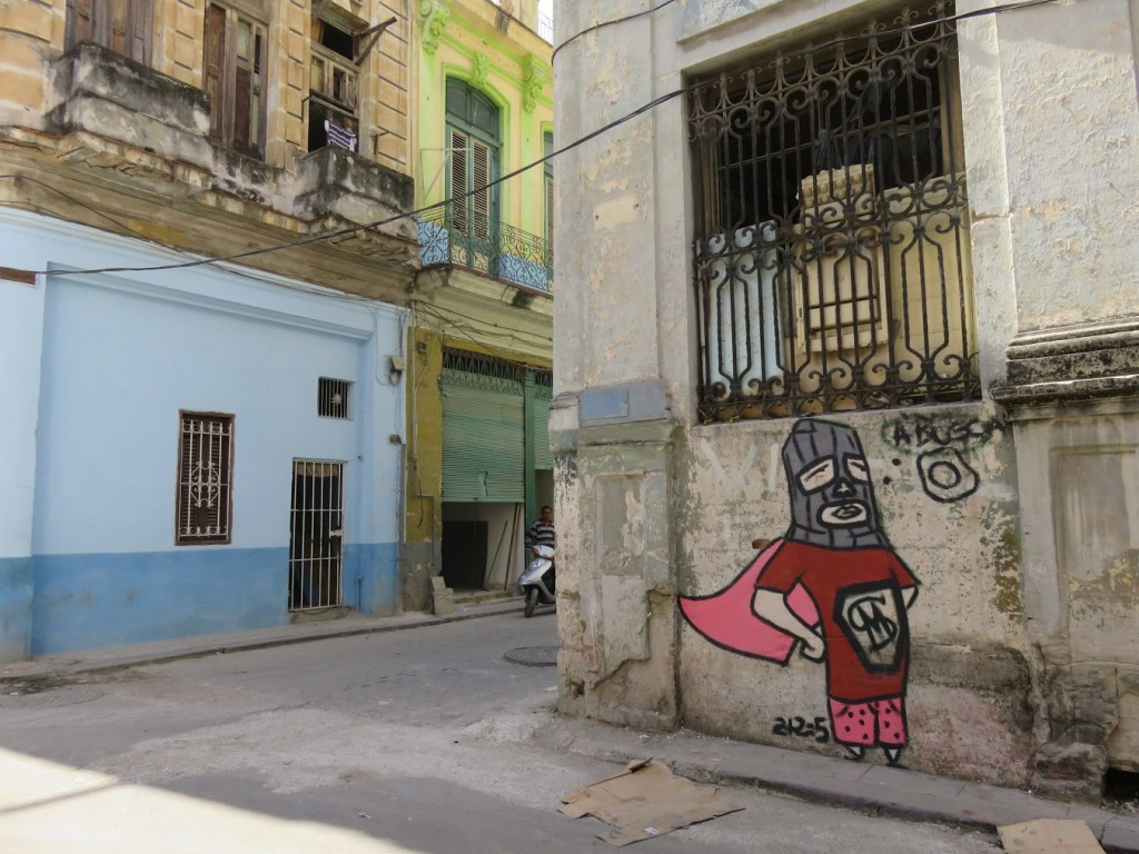 A caped crusader, Old Havana.
